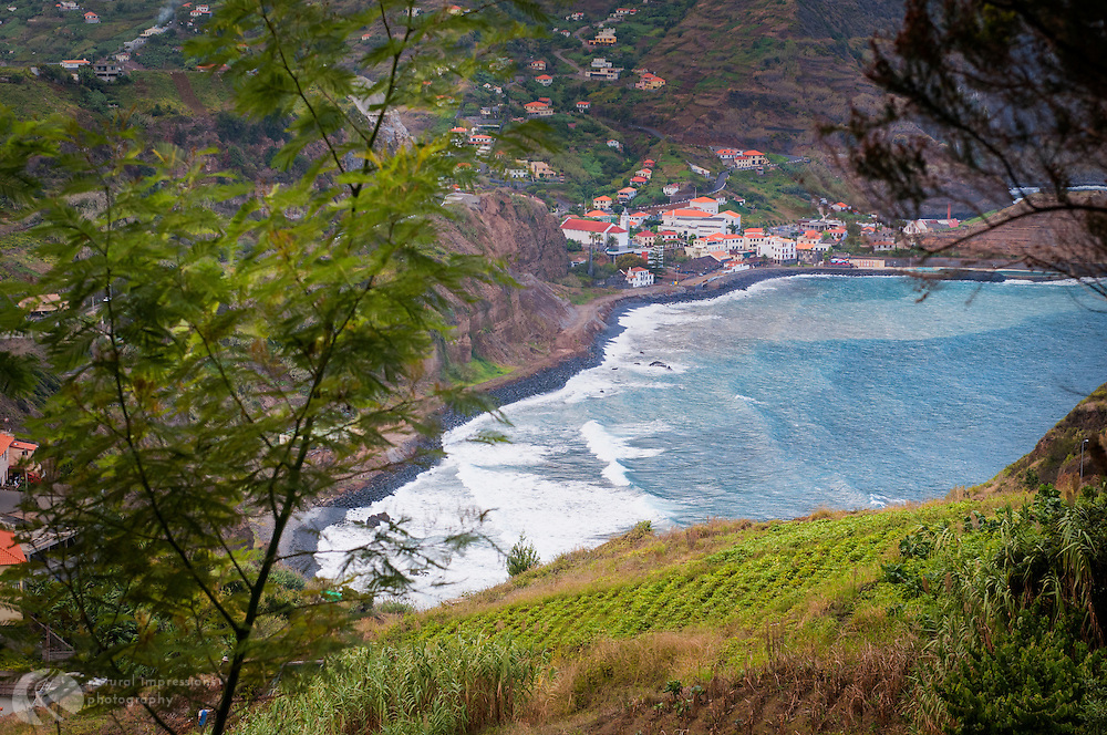 Tiny ocean villagess along Madeira's coastline are beacons of civilization after hiking levadas through the Island's rough terrain.