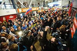 Reception of Slovenian National Handball team bronze medalist from Handball world cup in France, 29th January 2017,  Zagreb, Croatia. Photo by Grega Valancic / Sportida