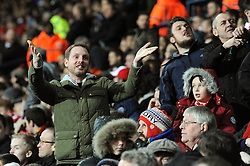 Bristol City fans look on as Saido Berahino of West Bromwich Albion scores to make it 1-1 - Mandatory byline: Dougie Allward/JMP - 09/01/2016 - FOOTBALL - The Hawthorns - Birmingham, England - West Brom v Bristol City - FA Cup Third Round