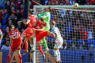 Wales midfielder Gareth Bale heads towards goal during the UEFA European 2020 Qualifier match between Wales and Slovakia at the Cardiff City Stadium, Cardiff, Wales on 24 March 2019.