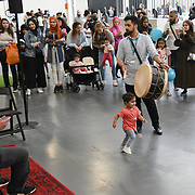 Darbuka Workshop with Simona Abdallah at Palestine Expo 2019 on 7 July 2019, at London Olympia, UK.