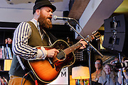 Photos of the Icelandic musician Mugison performing at KEX hostel for Iceland Airwaves music festival. October 13, 2011. Copyright © 2011 Matthew Eisman. All Rights Reserved.