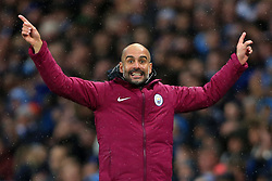 21st October 2017 - Premier League - Manchester City v Burnley - Man City manager Pep Guardiola - Photo: Simon Stacpoole / Offside.