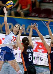01-10-2014 ITA: World Championship Volleyball Servie - Nederland, Verona<br /> Nederland verliest met 3-0 van Servie en is kansloos voor plaatsing final 6 / Jelena Nikolic