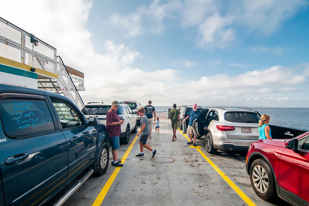 The North Carolina Ferry between Fort Fisher and Southport, North Carolina on Sunday, August 8, 2021. Copyright 2021 Jason Barnette