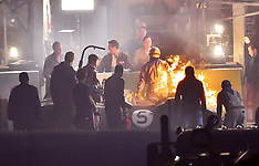 Matt Damon is set on fire while filming scenes for his new movie - 28 Oct 2018