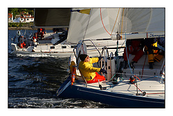 Yachting- The start of the Bell Lawrie Scottish series 2002 at Gourock racing overnight to Tarbert Loch Fyne where racing continues over the weekend.<br /><br />Scanne - Maxi 1100 8080C - and Skerryvore 2 - J 110 3110C<br />class 5 winner<br />Pics Marc Turner / PFM