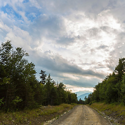 Summer clouds as seen from a logging road on Farmer Mountain in Mount Abram Township, Maine.
