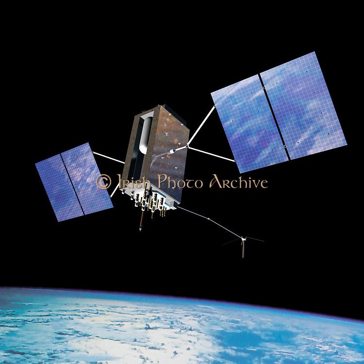 GPS satellite in Earth orbit