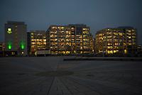DEU, Deutschland, Germany, Berlin, 15.12.2015: Bezirkstour des Berliner Senats in Friedrichshain-Kreuzberg. Hier der Mercedes-Benz-Platz vor der Mercedes-Benz-Arena auf dem Anschutz-Areal, Blick auf die Unternehmenszentrale von Zalando.