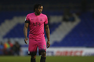 Scorer of the opening goal Southend United striker Nile Ranger (50) during the EFL Sky Bet League 1 match between Oldham Athletic and Southend United at Boundary Park, Oldham, England on 17 December 2016. Photo by Simon Brady.