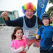 NO FEE PICTURES <br /> 1/1/15 Pierre Klein with James and Ella Whitty, Dartry at the Resolution Day New Years Day fun run at the CHQ building in Dublin. Picture:Arthur Carron