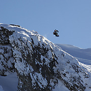 Freerider Jake Koia of New Zealand in action during the World Heli Challenge Freestyle Day at Mount Albert on Minaret Station, Wanaka, New Zealand. 31st July 2011