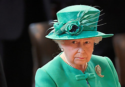 Queen Elizabeth II during a service at St Paul's Cathedral in London to mark the Centenary of the Order of the British Empire.
