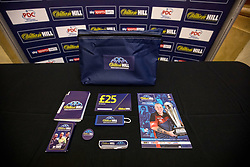 General view of William Hill media pack during day one of the William Hill World Darts Championship at Alexandra Palace, London. PRESS ASSOCIATION Photo. Picture date: Thursday December 14, 2017. See PA story DARTS World. Photo credit should read: Steven Paston/PA Wire. RESTRICTIONS: Use subject to restrictions. Editorial use only. No commercial use. Call +44 (0)1158 447447 for further information.