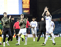 Leeds United's Liam Cooper applauds the fans at the final whistle<br /> <br /> Photographer Rich Linley/CameraSport<br /> <br /> The EFL Sky Bet Championship -  Leeds United v Preston North End - Tuesday September 18th 2018 - Elland Road - Leeds<br /> <br /> World Copyright © 2018 CameraSport. All rights reserved. 43 Linden Ave. Countesthorpe. Leicester. England. LE8 5PG - Tel: +44 (0) 116 277 4147 - admin@camerasport.com - www.camerasport.com