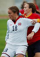 Ingrid Camilla Fosse Sæthre, Norge. A-landslaget 2003. Fotball. EM-kvalifisering kvinner. Spania - Norge 0-2. Las Rozas, Madrid, Spania. 16. november 2003. (Foto: Peter Tubaas/Digitalsport)