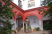 Historic courtyard Mondragon Palace municipal city museum Ronda, Spain
