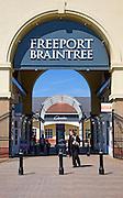 Freeport retail shopping centre, Braintree, Essex, England
