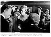 The Princess of Wales at the Starlight Cabaret. Hilton, London. 30 October 1986. Film 96912f26<br />© Copyright Photograph by Dafydd Jones<br />66 Stockwell Park Rd. London SW9 0DA<br />Tel 0171 733 0108