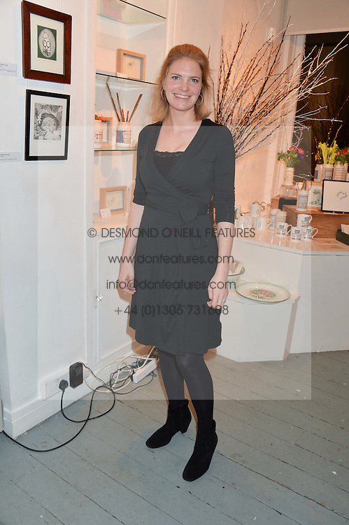 PRINCESS BEATRICE VON PREUSSEN at an exhibition of works by Beatrice von Preussen held at The Gallery on The Corner, 155 Battersea Park Road, London SW8 on 11th December 2013.