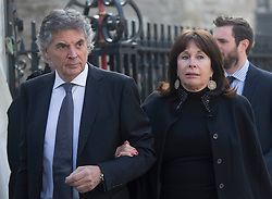 David Frost Memorial Service at Westminster Abbey<br /> <br /> <br /> David Dein and wife<br /> <br /> <br /> <br /> <br /> Pic by Gavin Rodgers/Pixel 8000 Ltd © Licensed to London News Pictures. Photo credit: Gavin Rogers/LNP