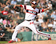 CHICAGO - JULY 28:  Ross Detwiler #54 of the Chicago White Sox pitches against the Minnesota Twins on July 28, 2019 at Guaranteed Rate Field in Chicago, Illinois.  (Photo by Ron Vesely)  Subject:   Ross Detwiler