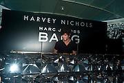 JESUS LUZ, Mark Jacobs' Bang' fragrance preview. Harvey Nicholls. London. 22 July 2010. -DO NOT ARCHIVE-© Copyright Photograph by Dafydd Jones. 248 Clapham Rd. London SW9 0PZ. Tel 0207 820 0771. www.dafjones.com.