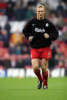 Fotball<br /> Premier League 30.11.2003<br /> Liverpool v Birmingham<br /> Sami Hyypia - Liverpool<br /> Foto: Morten Olsen, Digitalsport