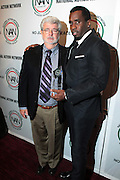 October 16, 2012-New York, NY : (L-R) Director George Lucas and Music Executive/Recording Artist/Actor Sean Combs aka P. Diddy at the 3rd Annual National Action Network Triumph Awards held at Jazz at Lincoln Center on October 16, 2012 in New York City. The Triumph Awards were established by the National Action Network to recognize the contributions of humanitarians from all walks of life and to encourage future generations to drum majors for justice. (Terrence Jennings)