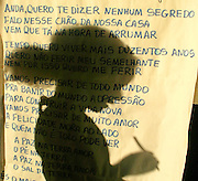 Lencois_BA, Brasil...Sombra de uma estudante da Escola Comunitaria Afranio Afonso Pereira, no municipio de Lencois. ..A student shadow of the Comunitary School Afranio Afonso Pereira, in the in Lencois...Foto: LEO DRUMOND / NITRO