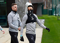 Football - 2019 / 2020 season - Liverpool training & press conference pre-Atletico Madrid<br /> <br /> Jordan Henderson and Trent Alexander-Arnold of Liverpool during today's open training session at Melwood ahead of tomorrow's Champions League match against Atletico, at Anfield.<br /> <br /> COLORSPORT/ALAN MARTIN