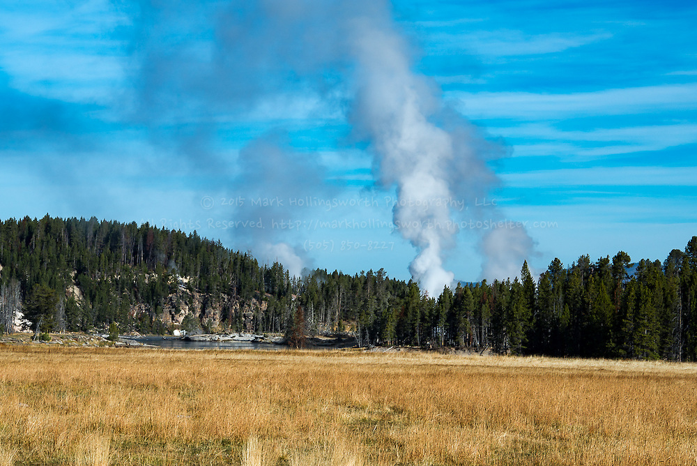 Steam vent in the Hayden Valley just south of the sulfer caldron Images from Yellowstone