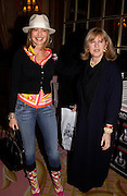 Countess Maya von Schonburg and Tessa Kennedy, Annabel, An Unconventional Life. Memoirs of Lady Annable goildsmith. The Ritz. 10 March 2004. ONE TIME USE ONLY - DO NOT ARCHIVE  © Copyright Photograph by Dafydd Jones 66 Stockwell Park Rd. London SW9 0DA Tel 020 7733 0108 www.dafjones.com