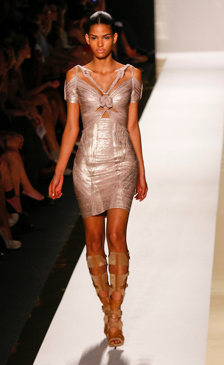Models walk the runway for Herve Leger Spring 2012 fashion show during New York Fashion Week, NYC, NY, USA. 13/09/2011 Kevin Kane/CatchlightMedia