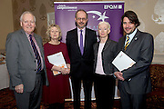 31/01/2014 REPRO free.<br /> From Left CforC Chief Executive Bob Barbour, Mary McVeigh, CIB, Tony McQuinn CEO CIB and  Josette Cuthbert CIB and Matt Fisher, EFQM,   at Galway Bay Hotel for 2013 EFQM IRELAND EXCELLENCE AWARDS AT EUROPEAN EXCELLENCE .<br /> <br /> Levels of recognition include: Ireland Excellence Award, Excellence 5 Star Award, Excellence 4 Star Award, STEPS to Excellence, and Gold Star Service Excellence. The Awards are not an end in themselves but a means of assessing and recognising role model organisations against the most rigorous international quality standards while encouraging management and staff to continue their excellence journey to the next level.www.cforc.org .<br /> Photo:Andrew Downes