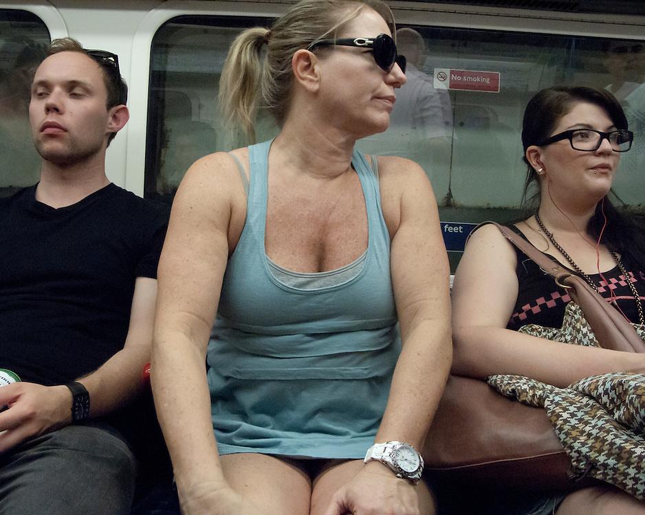 Commuter on the London Underground Network