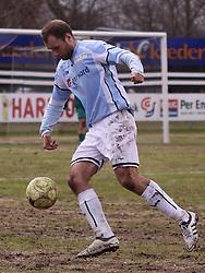FODBOLD: Michael Gorm Nielsen (Helsingør) under kampen i Danmarksserien, pulje 1, mellem HB Køge og Elite 3000 Helsingør den 1. april 2010 på Køge Stadion. Foto: Claus Birch