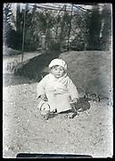 toddler in garden France circa 1920s