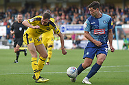 Oxford United midfielder Gavin Whyte (16) tries to cross during the EFL Sky Bet League 1 match between Wycombe Wanderers and Oxford United at Adams Park, High Wycombe, England on 15 September 2018.