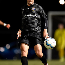 BRISBANE, AUSTRALIA - NOVEMBER 3: Roman Hofmann of the Knights passes the ball during the NPL Queensland Senior Mens Round 9 match between Eastern Suburbs FC and Gold Coast Knights at Heath Park on November 3, 2020 in Brisbane, Australia. (Photo by Patrick Kearney)