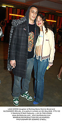 LEAH WOOD daughter of Rolling Stone Ronnie Wood and ALEXANDER DELLAL, at a party in London on 4th May 2004.PTS 122