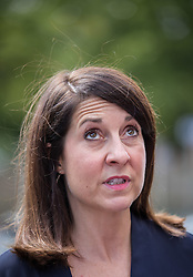 © Licensed to London News Pictures. 02/09/2015. London, UK. Labour leadership contender Liz Kendall MP campaigning in Wood Green. Photo credit : James Gourley/LNP