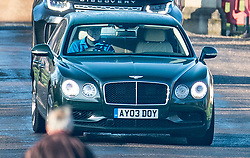 © Licensed to London News Pictures. 07/02/2020. Windsor, UK. Prince Andrew is seen driving from his home in Windsor. It has emerged that he has turned down promotion to admiral ahead of his 60th birthday. Photo credit: Peter Macdiarmid/LNP