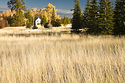 farmhouse in autumn, Klickitat County, WA, USA
