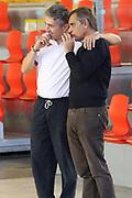 DESCRIZIONE : Roma Lega A allenamento Acea Roma<br /> GIOCATORE : Marco Calvani Claudio Toti<br /> SQUADRA : Acea Roma<br /> CATEGORIA : curiosita fair play ritratto<br /> EVENTO : Lega A 2012 2013<br /> GARA : allenamento Acea Roma<br /> DATA : 27/10/2012<br /> SPORT : Pallacanestro<br /> AUTORE : Agenzia Ciamillo-Castoria/M.Simoni<br /> Galleria : Lega A 2012-2013<br /> Fotonotizia :  Roma Lega A allenamento Acea Roma<br /> Predefinita :