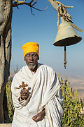 Portrait of a priest from the Mariam Korkor Church, Tigray, Ethiopia, Horn of Africa