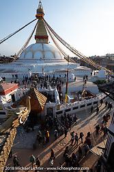 Boudhanath Stupa in Kathmandu during our Himalayan Heroes adventure, Nepal. Saturday, November 3, 2018. Photography ©2018 Michael Lichter.