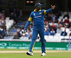 June 8, 2017 - London, United Kingdom - Angelo Mathews of Sri Lanka.during the ICC Champions Trophy match Group B between India and Sri Lanka at The Oval in London on June 08, 2017  (Credit Image: © Kieran Galvin/NurPhoto via ZUMA Press)