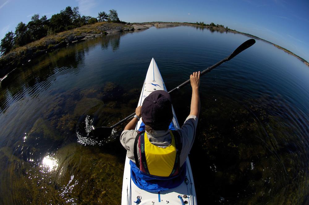 Sea kayaking; kayak; Misterhults skärgård; Småland; Sweden